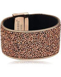 """Kenneth Cole Metallic """"rose Gold Items Rose Gold Statement With Blush Sprinkle Stone Bracelet"""