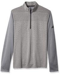 Lightweight UPF Layering Top Cerniera 1/4 di Adidas in Gray da Uomo