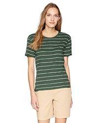 Lacoste Green Short Sleeve Jersey Hand Made Stripes T-shirt