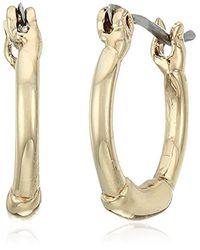 BCBGeneration - Metallic Basic Mod Huggie Earrings - Lyst
