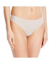 Calvin Klein Natural Invisibles Thong Panties (pack Of 3)