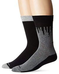 DIESEL Gray Ray 2-pack Printed Socks for men