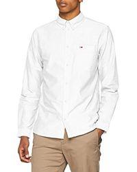 Uomo Tommy Classics Camicia Maniche lunghe elastico in vita Bianco (Classic White 100) X-Large di Tommy Hilfiger da Uomo