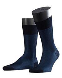 Falke - Blue Fine Shadow Socks for Men - Lyst