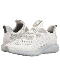 Adidas Gray Alphabounce Ams W Running Shoe, Clear Onix/medium Grey Heather, 10 M Us for men