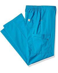 Carhartt Blue Size Rockwall Cargo Scrub Pant for men