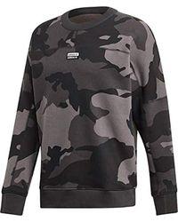 Adidas Gray R.y.v. Camo Sweater for men