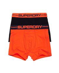 Sport Boxer Double Pack Vêtements Intérieurs Black/Sunset Orange XXL Superdry pour homme