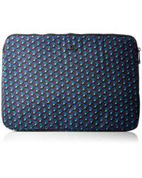 """Housse pour ordinateur portable 15"""" - Mirage Print Kipling en coloris Blue"""