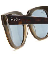 Ray-Ban Blue Meteor Wayfarer Sunglasses for men