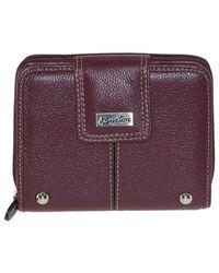 Buxton - Purple Westcott Tab Ziparound Wallet - Lyst