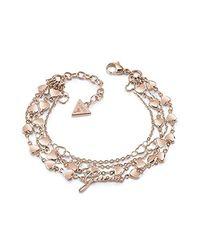 Bracelet pour en Acier Inoxydable Guess en coloris Metallic