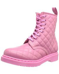 Dr. Martens Pink Coralie Quilted Leather Boot