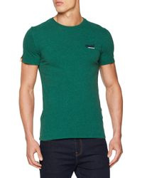 Superdry Green Orange Label Vntge Emb S/s Tee Kniited Tank Top for men