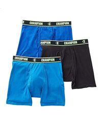 Champion Blue Cotton Performance Boxer Brief for men
