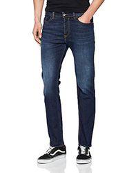 Buster Jeans Straight Uomo di DIESEL in Blue da Uomo