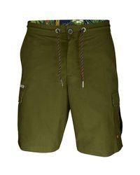 S.oliver Badeshorts in Green für Herren