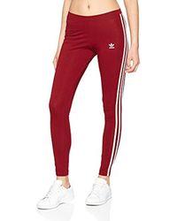 f9dcca2f94edb adidas 3 Stripes, Sports Tights in Red - Lyst