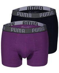 PUMA Shortboxer Striped in Purple für Herren