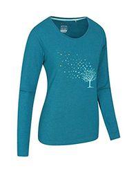 Shirt imprimé à Manches Longues pour - Motif Oiseaux en vol - T-Shirt léger, Respirant et Facile d'entretien - pour Les Sports Mountain Warehouse en coloris Blue