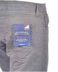 Izod - Gray Sportflex Straight Fit for Men - Lyst