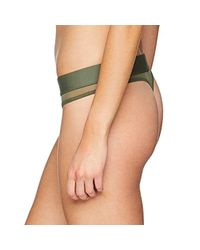 Calvin Klein Thong String, Green (beetle Tby), 12 (size: Medium)
