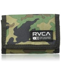 RVCA Multicolor Print Trifold Wallet for men
