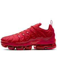 Nike MEN'S AIR VAPORMAX PLUS RUNNING SHOES in Red für Herren