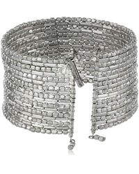 "Kenneth Cole - Metallic ""seed Bead Boost Silver Seed Bead Coil Bracelet, 7.5"" - Lyst"