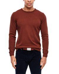 S.oliver RED Label Pullover mit Crew Neck Melange 2XT für Herren