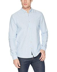 Scotch & Soda Blue Ams Blauw Regular Fit Allover Print Shirt for men