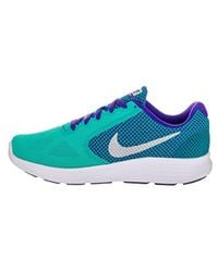 Nike Blue Revolution 3 Running Shoe