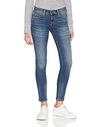 Donna Mid Rise Nora Jeans skinny Blu (Vermont Mid Blue Stretch 911) W27/L32 di Tommy Hilfiger