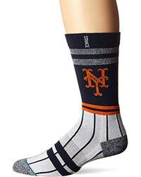 Stance Mets Crew Sock, Blue, Sock Size:10-13/shoe Size: 6-12 for men