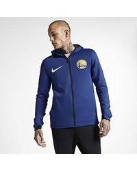 Nike Golden State Warriors Therma Flex Showtime Nba Hoodie Size M (rush Blue) for men