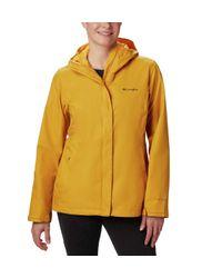 Columbia Yellow Plus Size Arcadia Ii Waterproof Breathable Jacket With Packable Hood