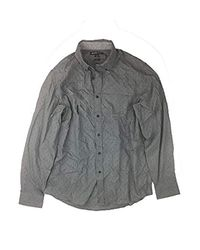 Michael Kors Gray Classic Stretch Fit Dress Shirt (grey, Large) for men
