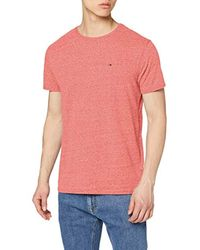 Tommy_Jeans Tjm Original Triblend Tee, T-Shirt Uomo, Rosso (Formula One 645), X-Large di Tommy Hilfiger in Pink da Uomo