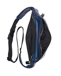 Calvin Klein Blue Celia Vegan Leather Water Resistent Belt Bag Fanny Pack