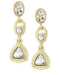 Napier - Metallic Gold-tone Linear Post Drop Earrings - Lyst