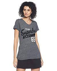 T-Shirt Femme Superdry en coloris Black