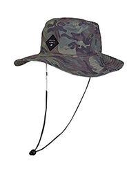 Billabong Multicolor Big John Print Safari Hat Camo One Size for men