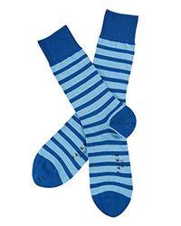 Even Stripe DOT 2p Bundle Calze di Falke in Blue da Uomo