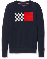 Ame Fun Towelling Cn Sweater suéter Tommy Hilfiger de hombre de color Blue