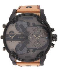 Orologio Cronografo Quarzo Uomo con Cinturino in Pelle DZ7406 di DIESEL in Gray da Uomo