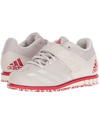 Adidas White Powerlift.3.1 Cross Trainer, Chalk Pearl/chalk Pearl/scarlet, 12.5 M Us for men