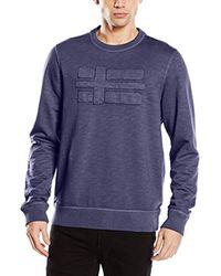 Napapijri Blue Bulwark Sweatshirt for men