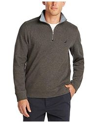 Classic Fit Quarter-Zip Pullover di Nautica in Gray da Uomo