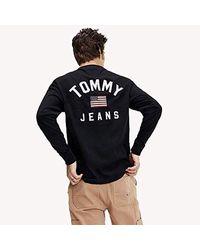 Tjm Longsleeve Us Flag Tee Camicia Sportiva Uomo di Tommy Hilfiger in Black da Uomo