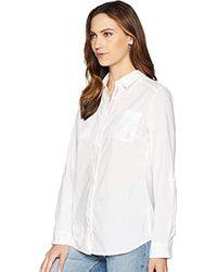 U.S. POLO ASSN. Eyelet Woven Shirt (optic White) Clothing
